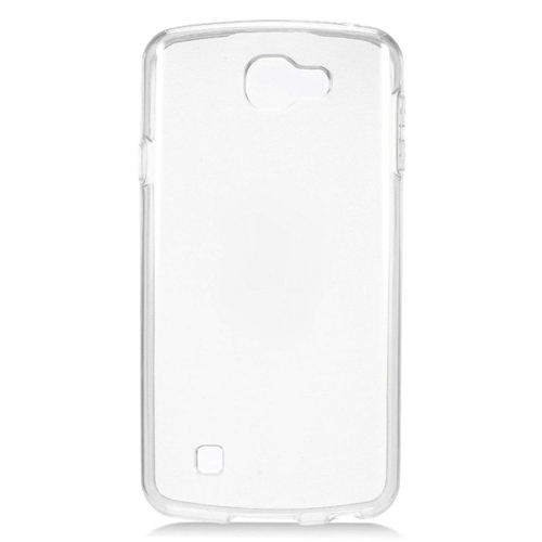 Insten TPU Rubber Candy Skin Case Cover Compatible With LG Optimus Zone 3/Spree, White
