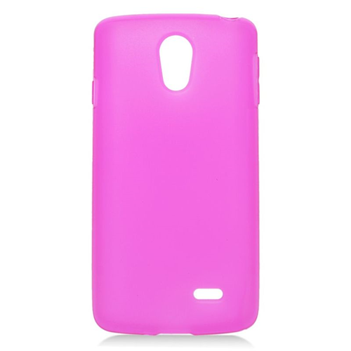 Insten TPU Rubber Candy Skin Case Cover Compatible With LG Lucid 3 VS876, Hot Pink