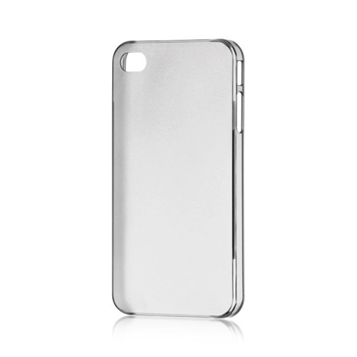 Insten TPU Rubber Candy Skin Case Cover Compatible With Apple iPhone 4/4S, Smoke