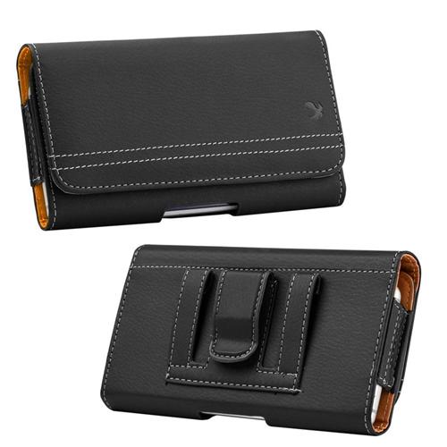 Insten Folio Flip Leather Wallet Flap Pouch Belt Clip Case For Samsung Galaxy Note, Black