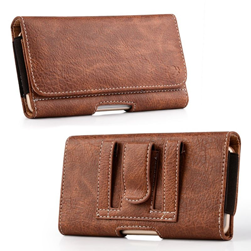 Insten Folio Flip Leather Wallet Flap Pouch Belt Clip Case For LG G Flex,ZTE Max N9520, Brown