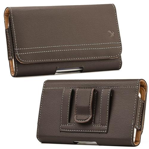 Insten Folio Flip Leather Wallet Flap Pouch Belt Clip Case For LG G Flex,ZTE Max N9520, Brown