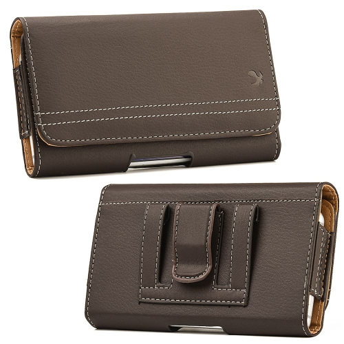 Insten Folio Flip Leather Wallet Belt Clip Case For HTC One M7,Samsung Galaxy S6 SM-G920/S7, Brown