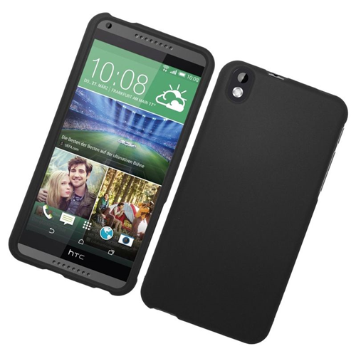 Insten Rubberized Hard Snap-in Case Cover Compatible With HTC Desire 816, Black