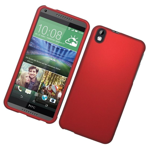 Insten Rubberized Hard Snap-in Case Cover Compatible With HTC Desire 816, Red