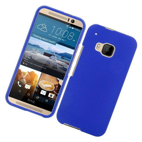 Insten Rubberized Hard Snap-in Case Cover Compatible With HTC One M9, Blue