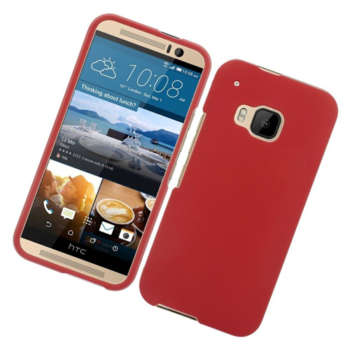Insten Rubberized Hard Snap-in Case Cover Compatible With HTC One M9, Red