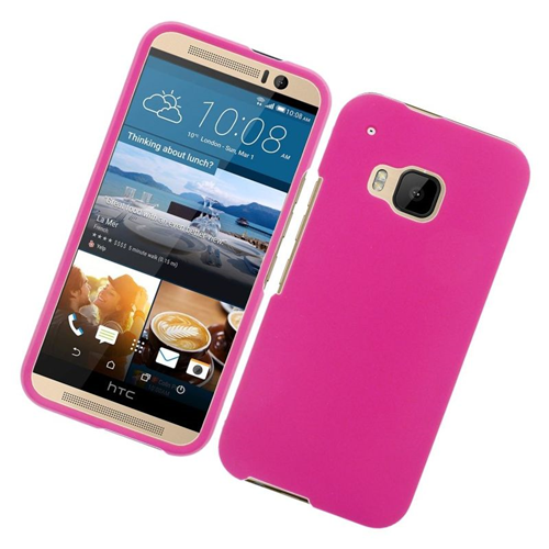 Insten Rubberized Hard Snap-in Case Cover Compatible With HTC One M9, Hot Pink