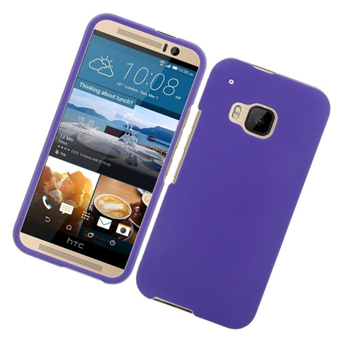 Insten Rubberized Hard Snap-in Case Cover Compatible With HTC One M9, Purple