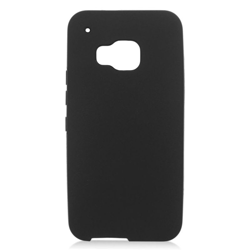 Insten TPU Rubber Candy Skin Case Cover Compatible With HTC One M9, Black