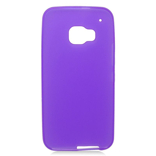 Insten TPU Rubber Candy Skin Case Cover Compatible With HTC One M9, Purple