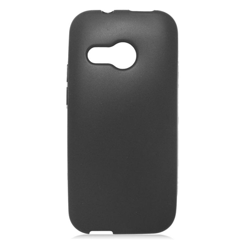 Insten TPU Rubber Candy Skin Case Cover Compatible With HTC One M8 Mini, Black