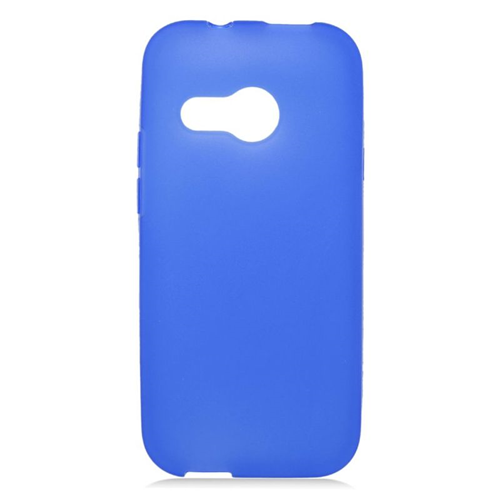 Insten TPU Rubber Candy Skin Case Cover Compatible With HTC One M8 Mini, Blue