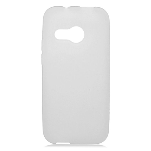 Insten TPU Rubber Candy Skin Case Cover Compatible With HTC One M8 Mini, Clear