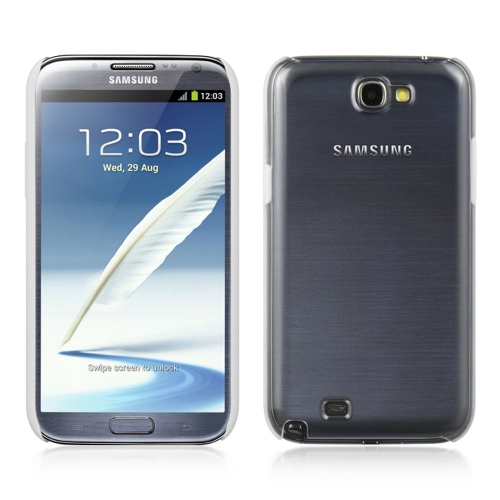 Insten Hard Snap-in Case Cover Compatible With Samsung Galaxy Note II, Clear/White