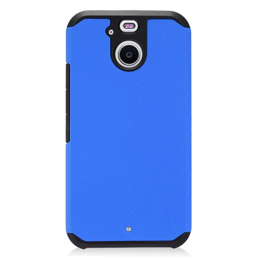 Insten Dual Layer Hybrid PC/TPU Rubber Case Cover Compatible With HTC 10 EVO / Bolt, Blue/Black