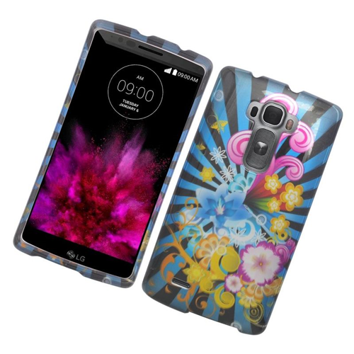 Insten Fireworks Rubberized Hard Snap-in Case Cover Compatible With LG G Flex 2, Colorful