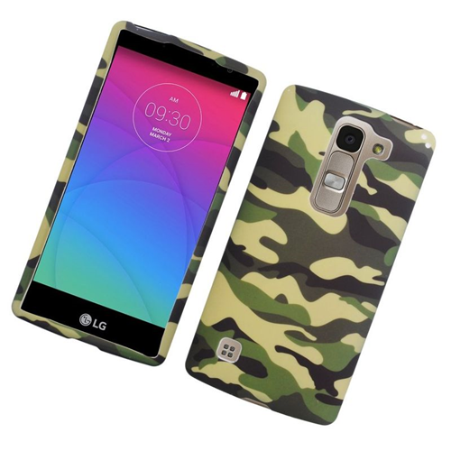Insten Camouflage Rubberized Hard Snap-in Case For LG Escape 2 H443 / H445, Green/Black