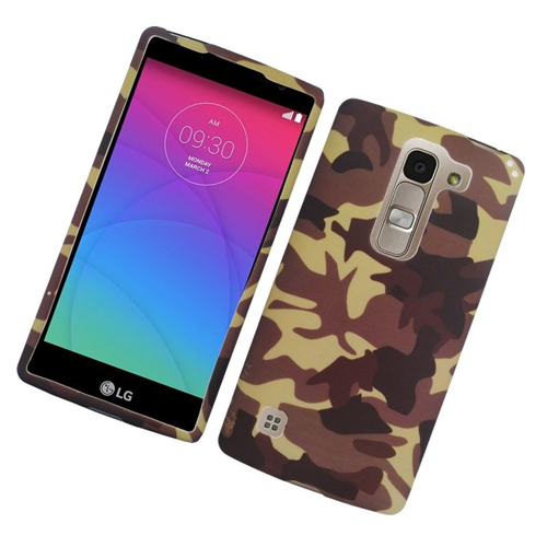 Insten Camouflage Rubberized Hard Snap-in Case Cover Compatible With LG Escape 2 H443 / H445, Brown