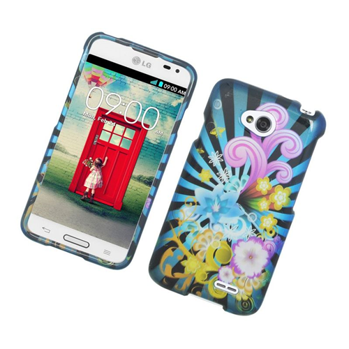Insten Fireworks Hard Snap-in Case For LG Optimus L70 MS323/Realm LS620, Colorful