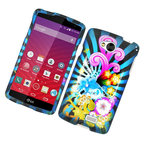 Insten Fireworks Rubberized Hard Snap-in Case Cover Compatible With LG Tribute, Colorful