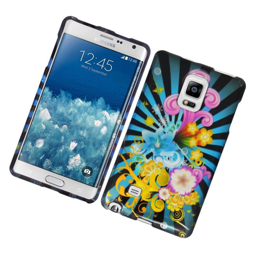 Insten Fireworks Rubberized Hard Snap-in Case For Samsung Galaxy Note Edge, Colorful