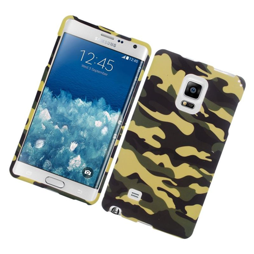 Insten Camouflage Rubberized Hard Snap-in Case For Samsung Galaxy Note Edge, Green/Black