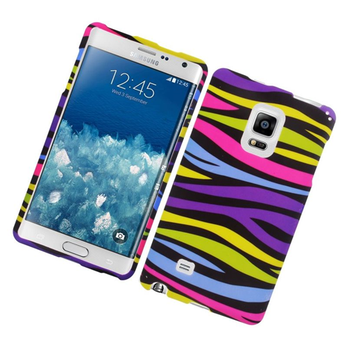 Insten Zebra Rubberized Hard Snap-in Case Cover Compatible With Samsung Galaxy Note Edge, Colorful