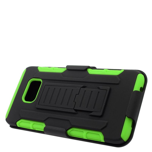 Insten Holster Case for Samsung Galaxy S6 Edge Plus - Green;Black