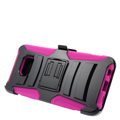 Insten Holster Case for Samsung Galaxy S6 Edge Plus - Hot Pink;Black