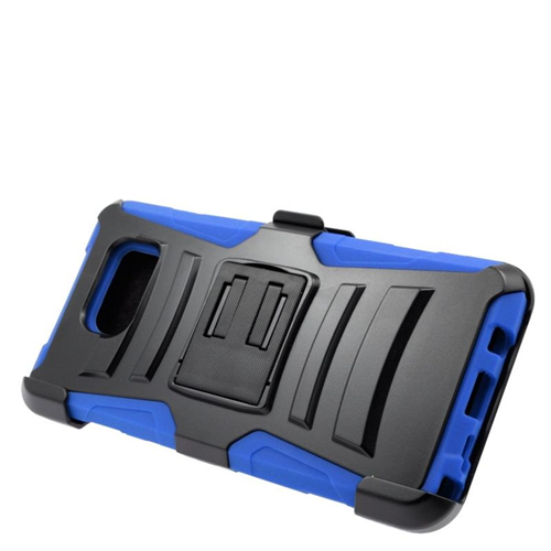 Insten Hybrid Stand PC/Silicone Holster Case For Samsung Galaxy Note 5, Black/Blue