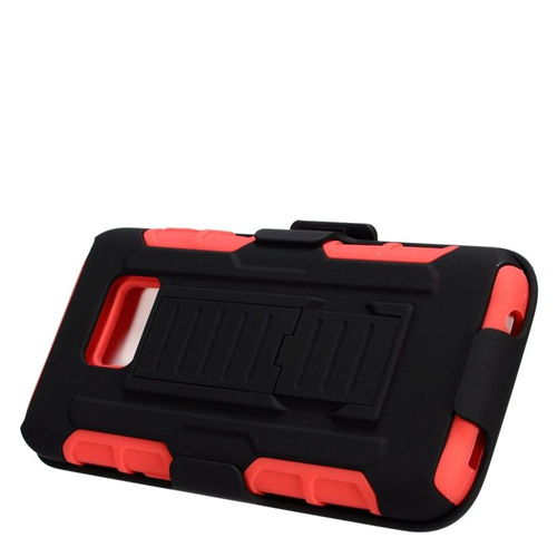 Insten Holster Case for Samsung Galaxy S7 - Black;Red