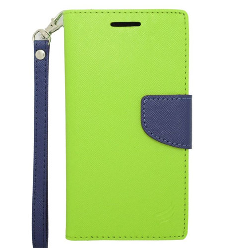 Insten Stand Folio Flip Leather Wallet Flap Pouch Case For HTC Desire 510, Green/Blue