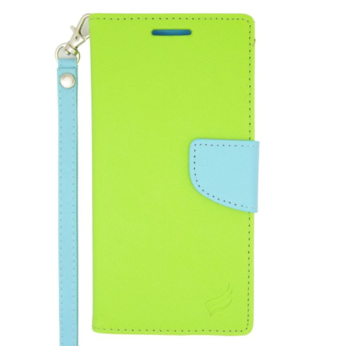 Insten Folio Case for HTC Desire Eye - Green;Light Blue