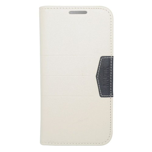 Insten Folio Flip Leather Wallet Flap Pouch Case Cover Compatible With HTC One M8, White/Black