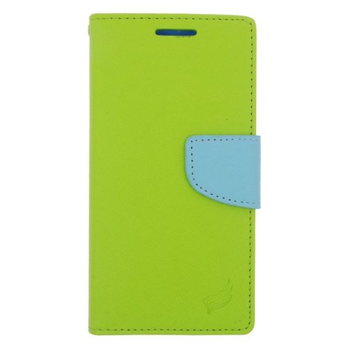 Insten Stand Folio Flip Leather Wallet Flap Pouch Case For HTC One M9, Green/Light Blue