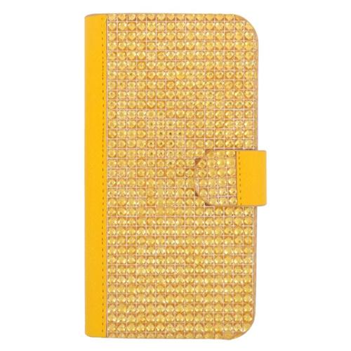 Insten Folio Flip Rhinestone Diamond Bling Leather Wallet Flap Pouch Case For HTC One M9, Gold