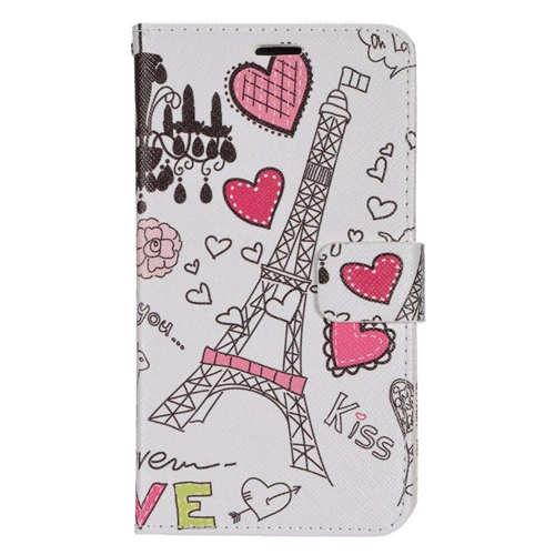 Insten Hearts Folio Flip Leather Wallet Case For LG Destiny/Power/Risio/Tribute 2, Colorful