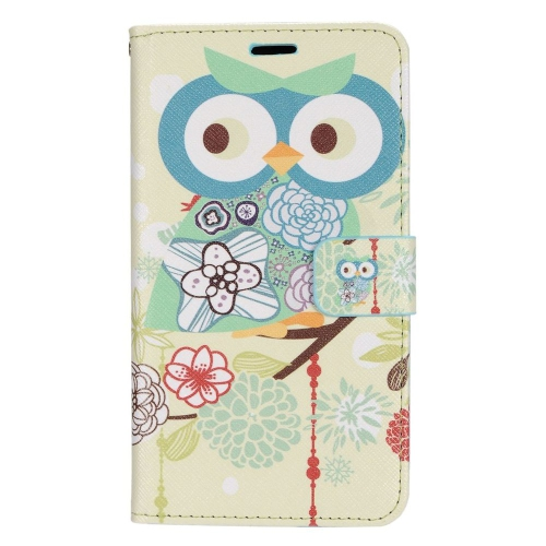 Insten Owl Stand Folio Flip Leather Wallet Flap Pouch Case For LG G Stylo LS770, Colorful