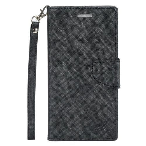 Insten Stand Folio Flip Leather Wallet Flap Pouch Case Cover Compatible With LG V10, Black