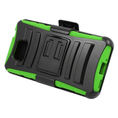 Insten Hybrid PC/Silicone Holster Case For Samsung Galaxy Alpha SM-G850A/SM-G850T, Black/Green