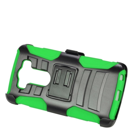 Insten Dual Layer Hybrid Stand PC/Silicone Holster Case Cover Compatible With LG V10, Black/Green