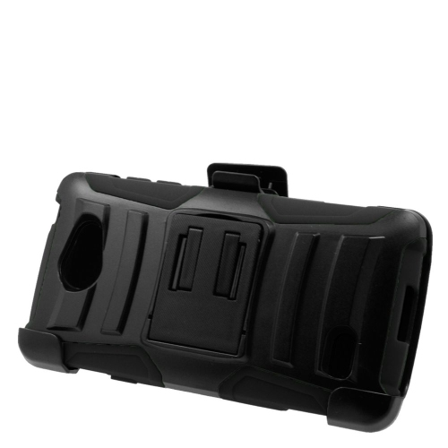 Insten Dual Layer Hybrid Stand PC/Silicone Holster Case Cover Compatible With LG Lancet VW820, Black