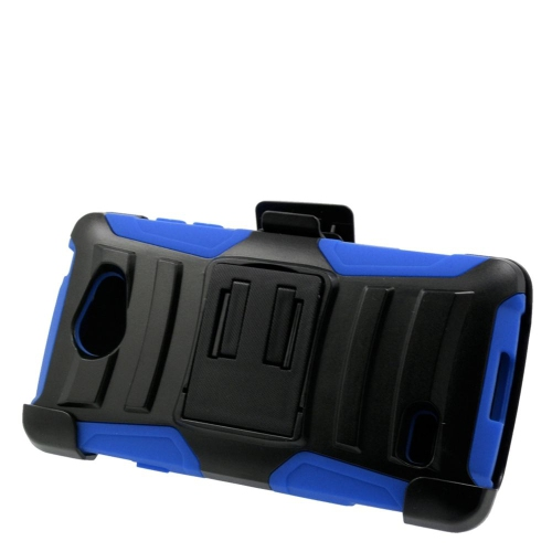 Insten Hybrid Stand PC/Silicone Holster Case For LG Lancet VW820, Black/Blue
