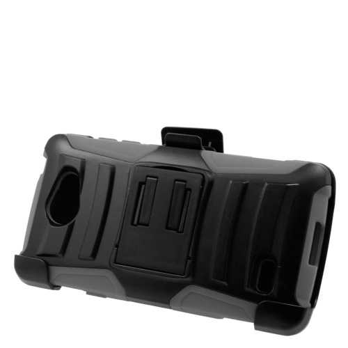 Insten Hybrid Stand PC/Silicone Holster Case For LG Lancet VW820, Black/Gray