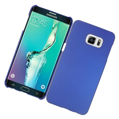 Insten Rubberized Hard Snap-in Case Cover Compatible With Samsung Galaxy S6 Edge Plus, Blue