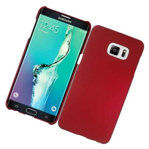 Insten Rubberized Hard Snap-in Case Cover Compatible With Samsung Galaxy S6 Edge Plus, Red
