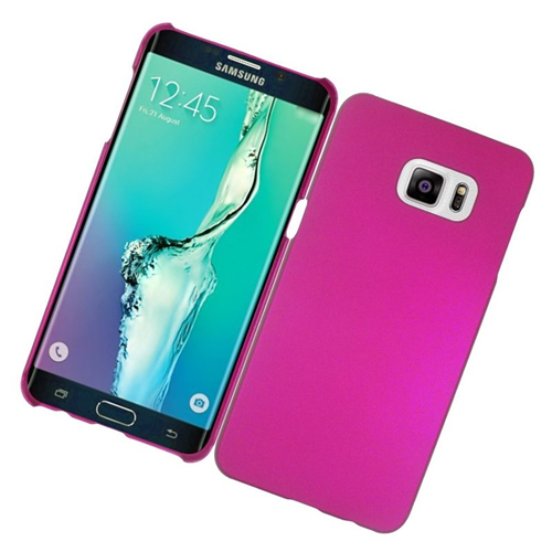 Insten Rubberized Hard Snap-in Case Cover Compatible With Samsung Galaxy S6 Edge Plus, Hot Pink