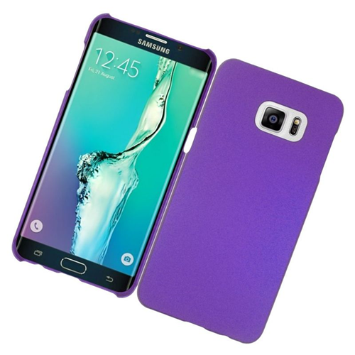 Insten Rubberized Hard Snap-in Case Cover Compatible With Samsung Galaxy S6 Edge Plus, Purple