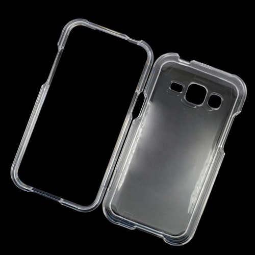Insten Crystal Hard Snap-in Case Cover Compatible With Samsung Galaxy J1 (2016), Clear